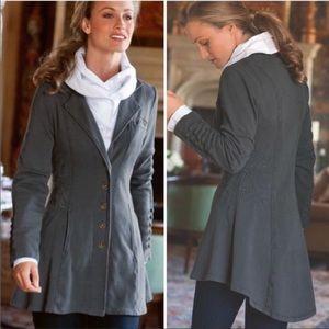 Soft Surroundings Gray Tallulah Sweater Jacket
